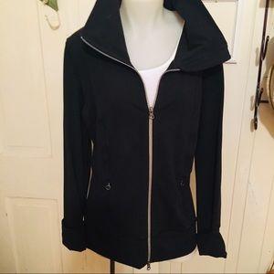 Lululemon Zip Jacket -12 Black , Poly blend